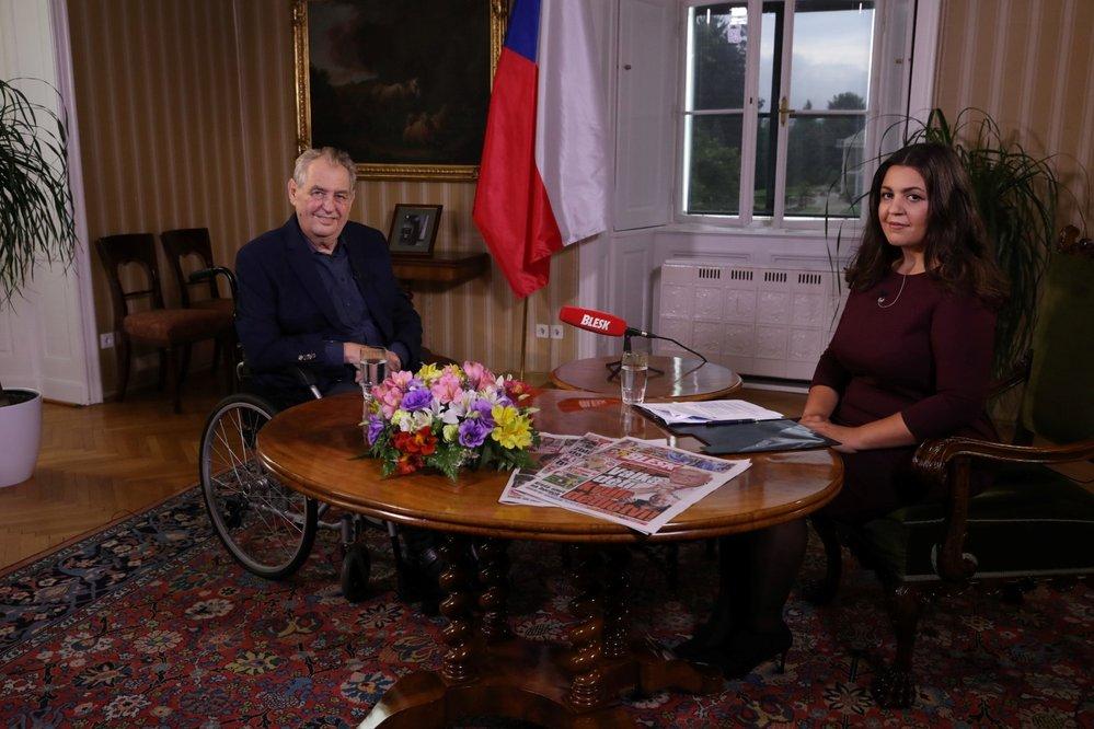 Miloš Zeman v pořadu Blesku S prezidentem v Lánech (22.8.2021)