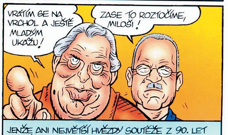 Odchod Miloše Zemana z politiky těžce nesl karikaturista Reflexu Štěpán Mareš