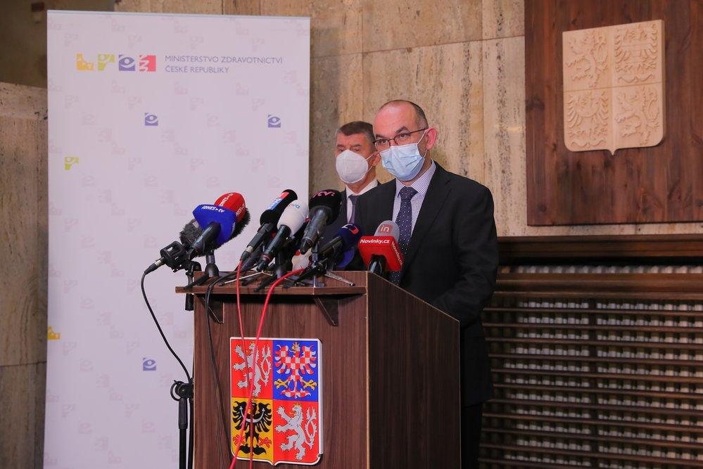Tisková konference Jana Blatného s Andrejem Babišem