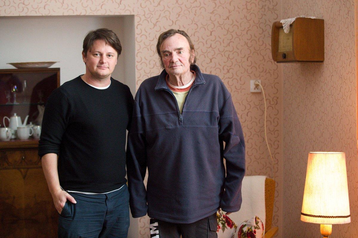 Miroslav Kaman alias představitel esenbáka z Pelíšků a Jindřich Bíč