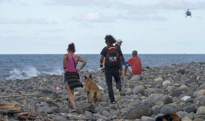 Místo nálezu úlomků na ostrově Réunion