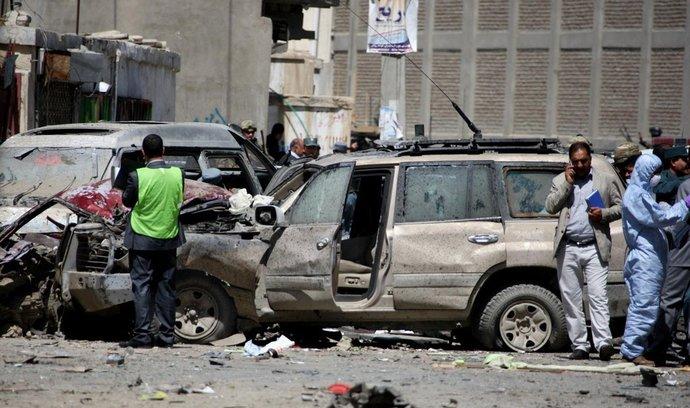 Místo útoku v Kábulu (17. května)