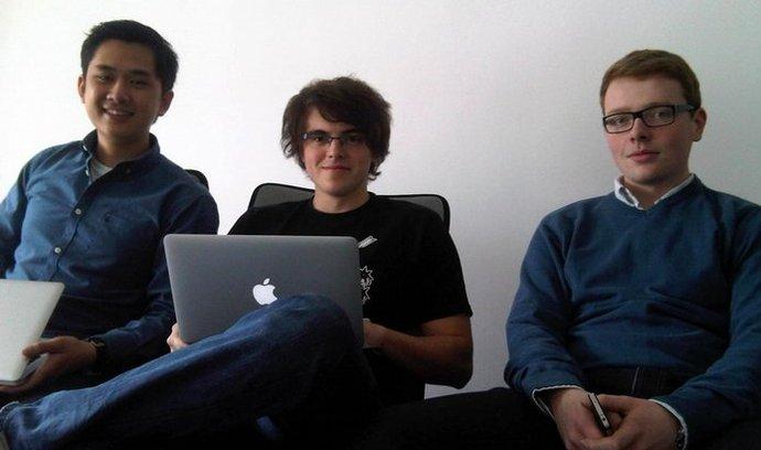Mladý tým abdoc stojící za CSS Piffle. Zleva: Vu Hoang Anh, Petr Brzek a Lukáš Hurych.