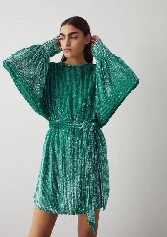 Mini šaty s flitry, Warehouse, 199 GBP