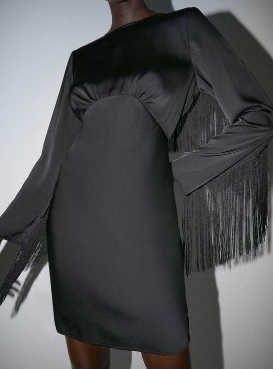 Mini šaty s třásněmi, Warehouse, 59 GBP