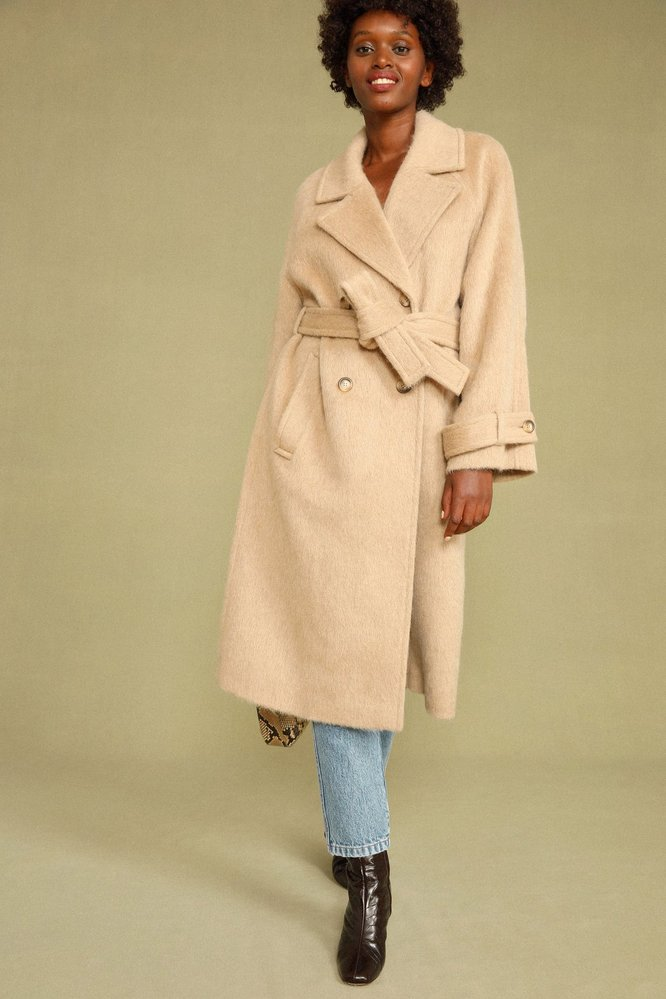 Kabát s páskem, Rouje Paris, 350 EUR