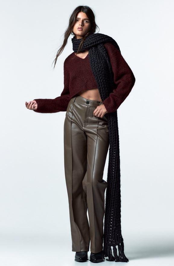 Koženkové kalhoty, Zara, 799 Kč