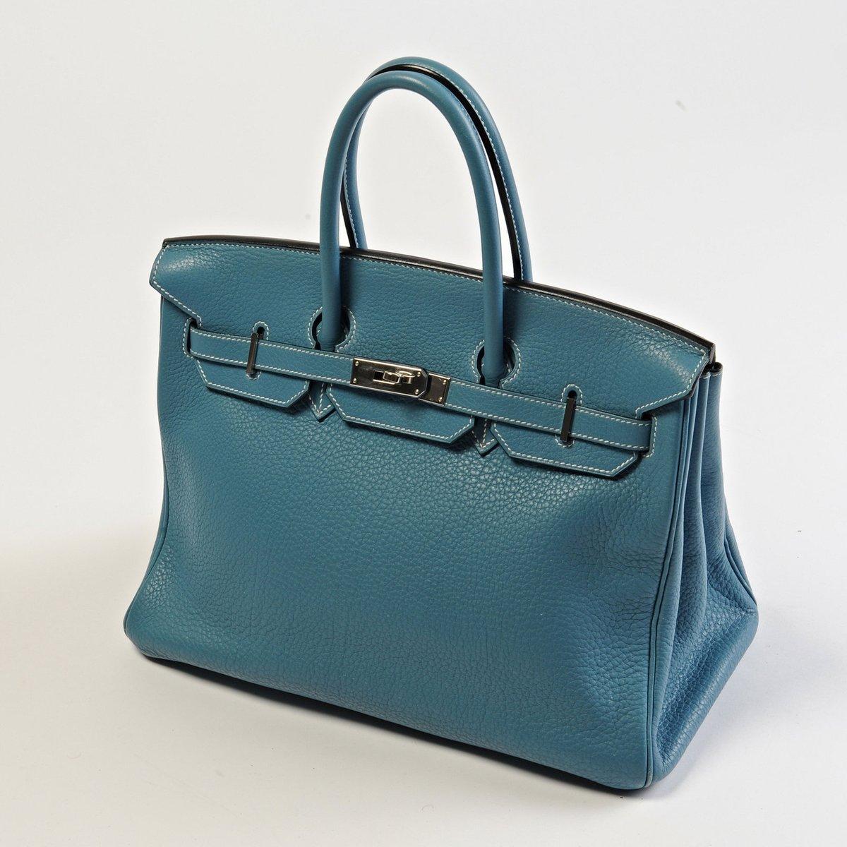 Modrá kabelka Hermès