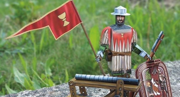 Vystřihovánka ke stažení: Výzbroj husitského bojovníka