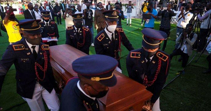 Pohřeb haitského prezidenta Jovenela Moiseho.