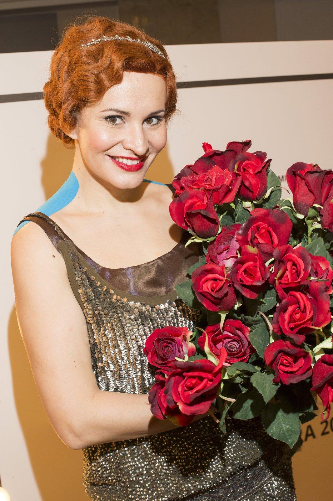 Monika Absolonová na zkouškách muzikálu Funny Girl.