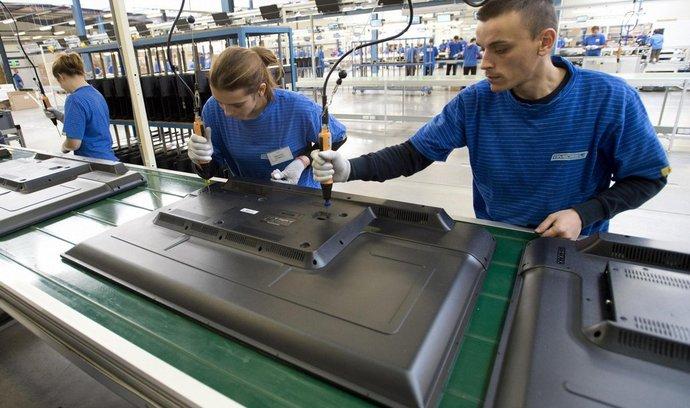 ilustrační foto, Montážní linka společnosti Changhong v první česko-čínské průmyslové zóně v Nymburku