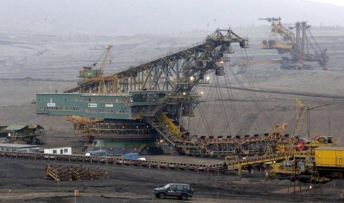 Těžba uhlí na Mostecku