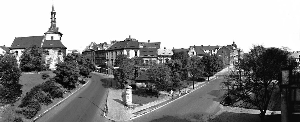 Město Most v 70. letech, tedy těsně před začátkem demolice