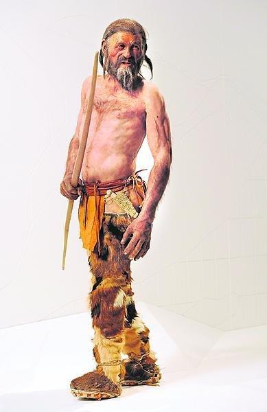 Rekonstrukce Ötziho podoby.
