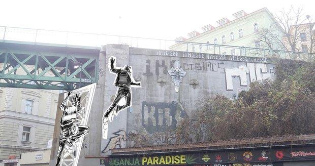 Nový mural na Žižkově připomene legendárního Péráka