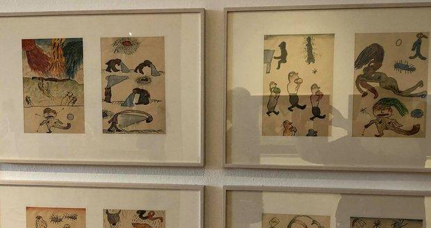 V Museu Kampa bude až do konce září k vidění výstava Jiřího Šalamouna, který mimo jiné výtvarně ztvárnil Maxipsa Fíka