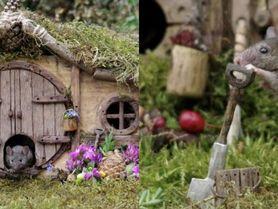 Myši na jeho zahradě pijí pivo a žijí ve vlastních domech. To musíte vidět!