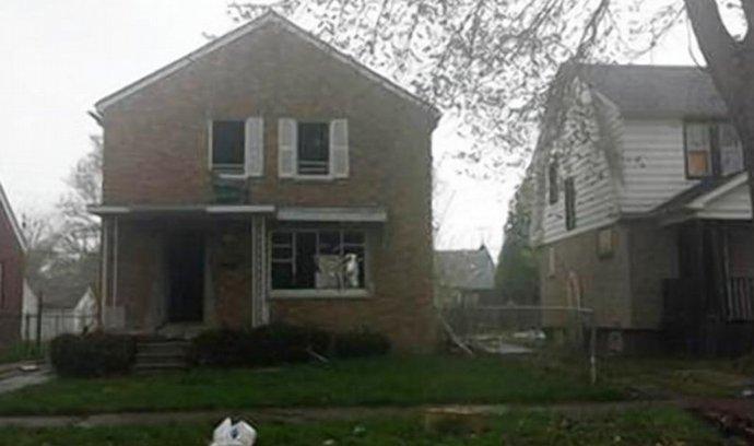 nabízený dům v Detroitu, majitel si jej cení jako nový Applle iPhone 6