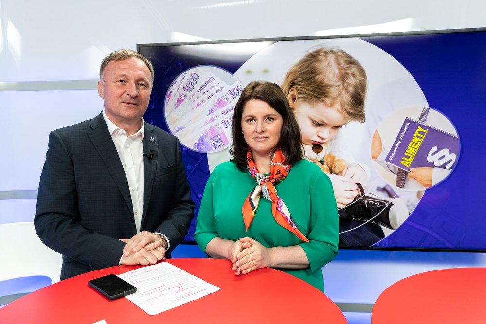 Ministryně práce a sociálních věcí Janě Maláčová a poslanec ODS a člen sociálního výboru Petr Beitl v Epicentru 1.7.2021