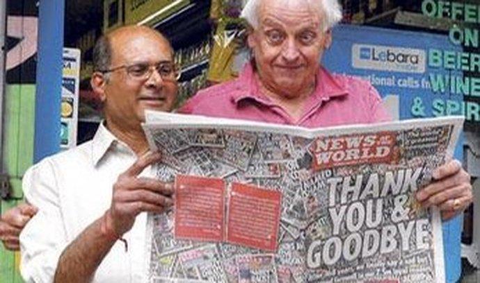 Naposledy. Týdeník fungoval od roku 1843. Murdochova společnost oznámila jeho konec teprve minulý týden.