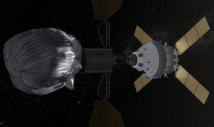 """NASA plánuje """"odchyt"""" malého asteroidu pomocí sondy Orion"""