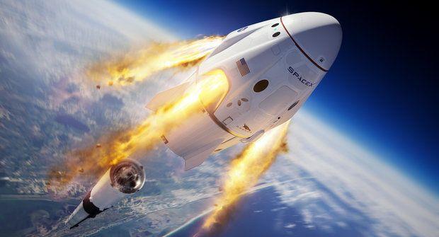 SpaceX: Historický let do vesmíru! Soukromá loď odstartovala poprvé s lidskou posádkou
