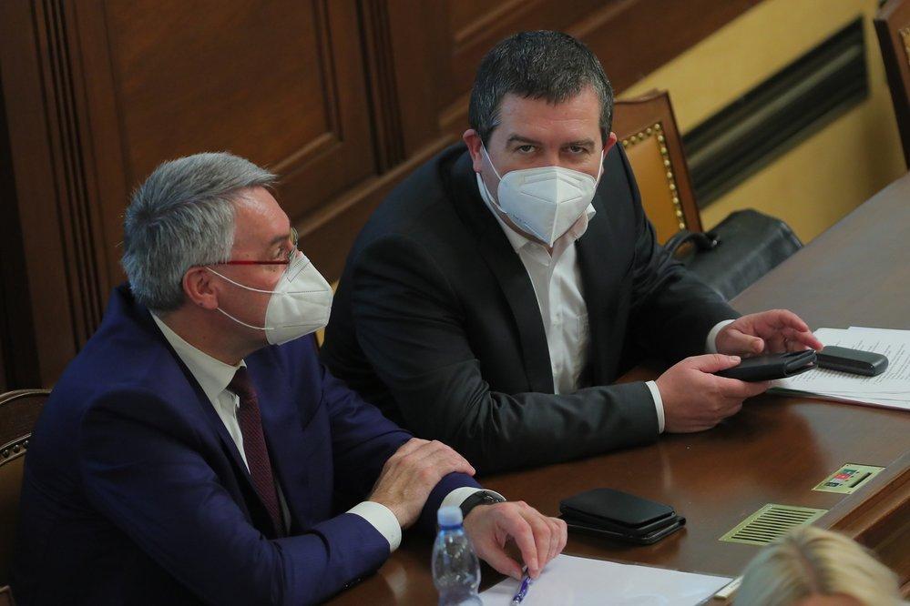 Jednání o nedůvěře vládě: Vicepremiér Hamáček a ministr Metnar (3.6.2021)