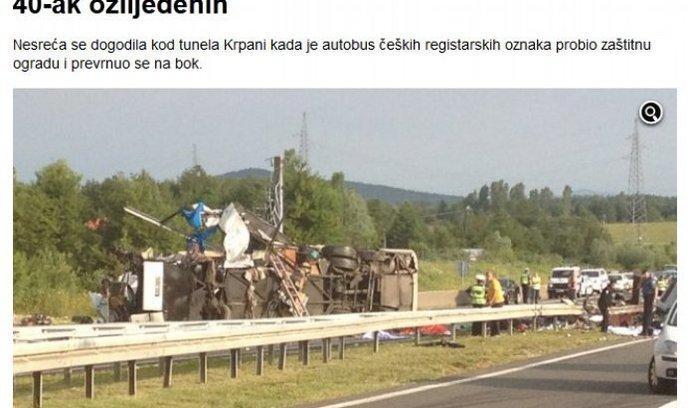 Nehoda, autobus