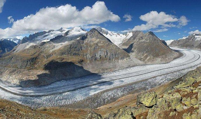 Největší evropský ledovec Aletschgletscher