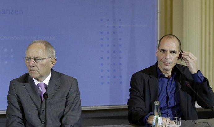 Německý ministr financí Wolfgang Schäuble a jeho řecký protějšek Janis Varufakis