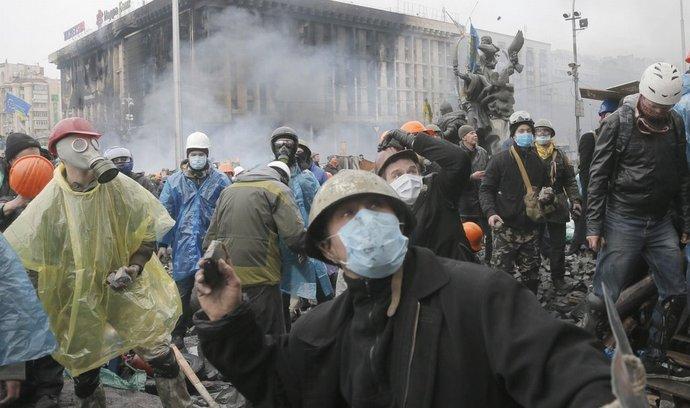 Pravý sektor má údajně velký podíl na protivládních demonstracích v Kyjevě