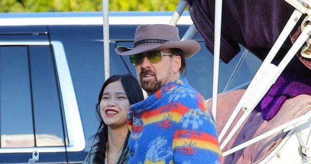 Nicolas Cage se popáté oženil. Za manželku pojal Japonku Riko Shibate