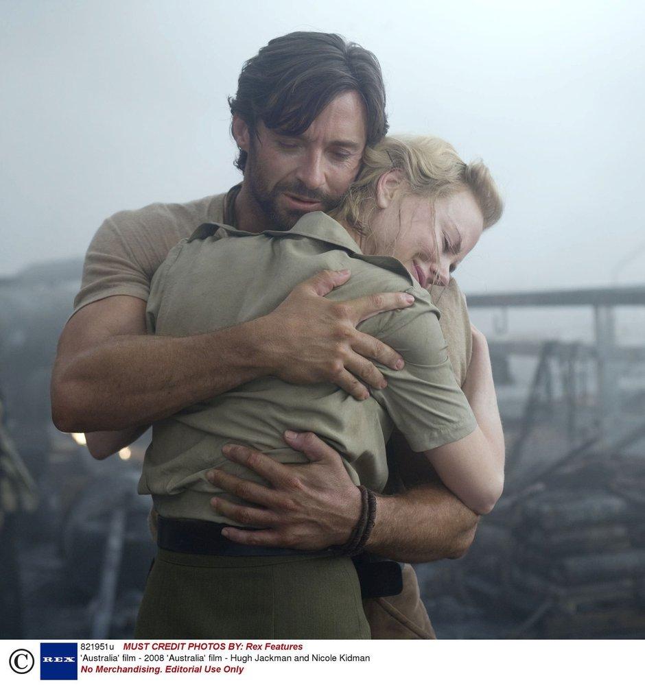 Nicole Kidman a Hugh Jackman si spolu zahráli ve filmu Austrálie (2008)