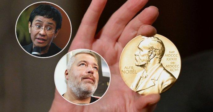 Periodistas de Filipinas y Rusia tienen el Premio Nobel de la Paz por luchar por la libertad de expresión
