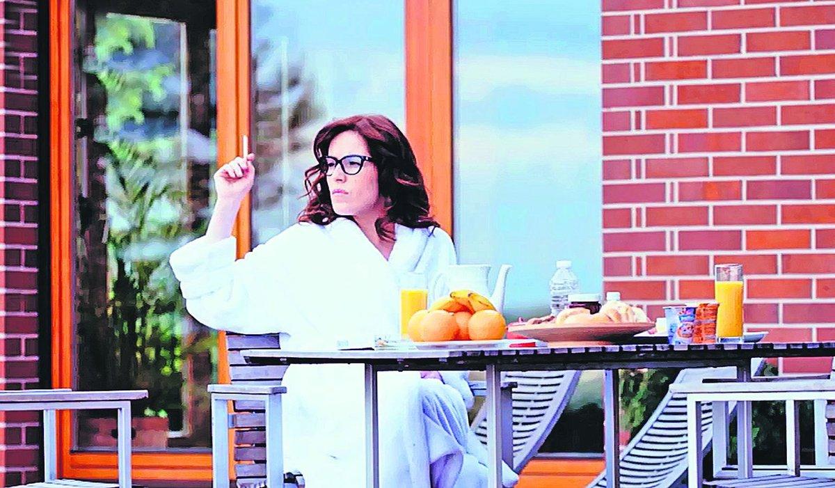 Snad všichni kolegové záviděli Norisové opulentní snídaně na terase.