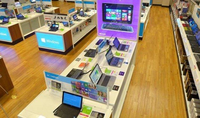 Obchod v obchodě – Microsoft Store uvnitř pobočky americké sítě Best Buy