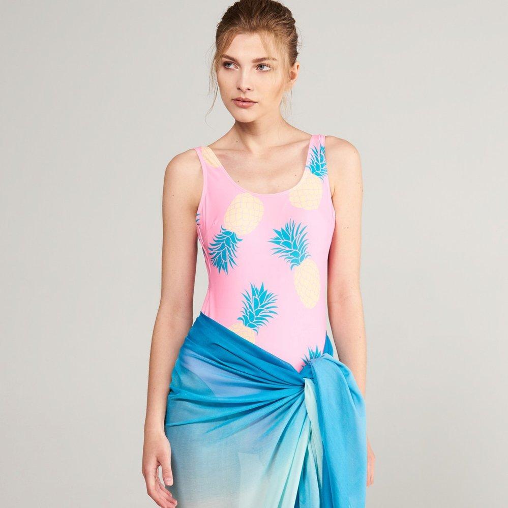 Jednodílné plavky s ananasy, Reserved, 479 Kč