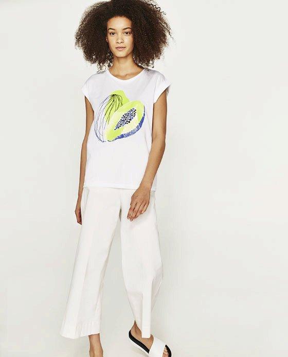 Tričko s papájou, Zara, 499 Kč