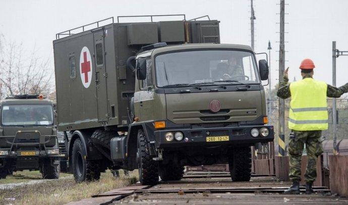 Odjezd armádních zdravotníků do Slovinska