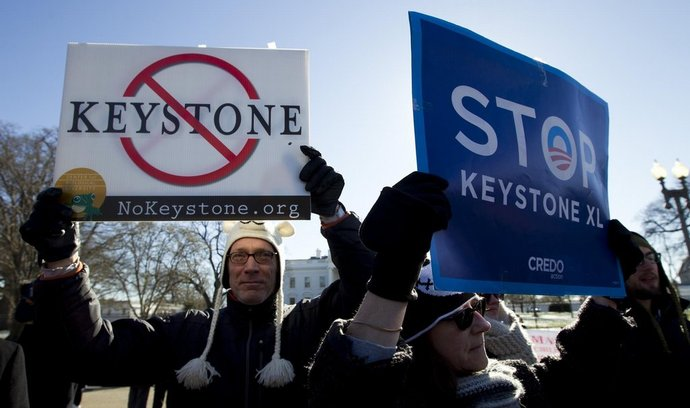 Odpůrci stavby americko-kanadského ropovodu Keystone XL