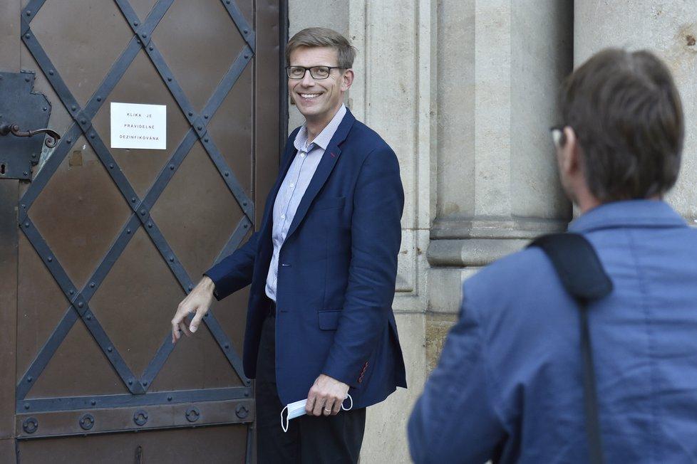 Ve Středočeském kraji začíná povolební vyjednávání koalice. Na fotografii místopředseda ODS Martin Kupka (4.10.2020)