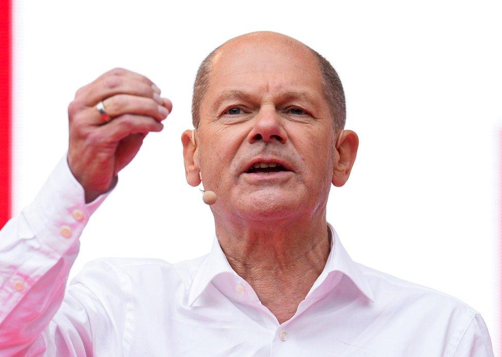 Ministr financí a kandidát na německého kancléře Sociálnědemokratické strany Německa (SPD) Olaf Scholz