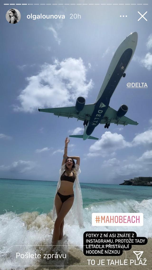 Olga Lounová v Karibiku.