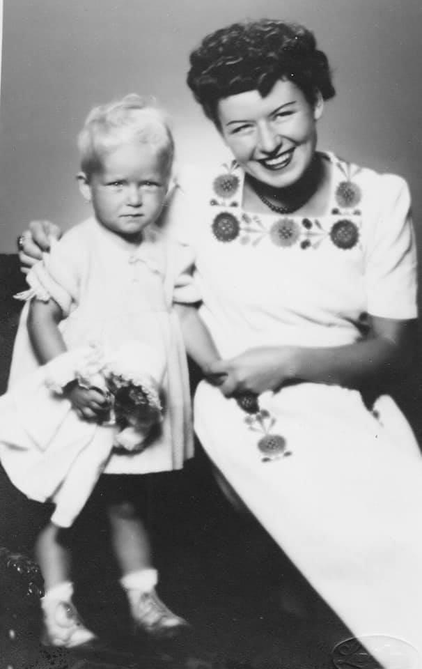 Olga Schmidtová s dcerou