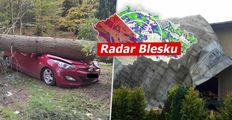 ONLINE: Bouře Ignatz udeřila v Česku, kácí stromy a převrací auta. Tisíce lidí jsou bez proudu
