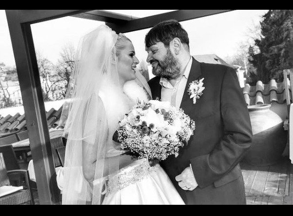 Ornella Koktová slaví s Josefem Koktou výročí svatby.