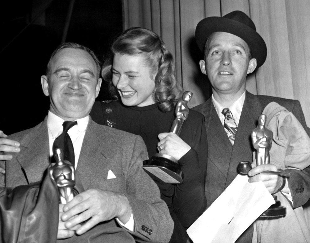 1945 - Ingrid Bergman, Bing Crosby a Barry Fitzgerald