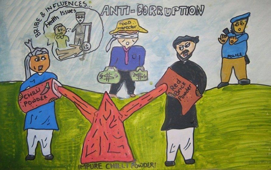 Takto vidí korupci děti v Pákistánu. Soutěž vypsala pobočka Transparency International.