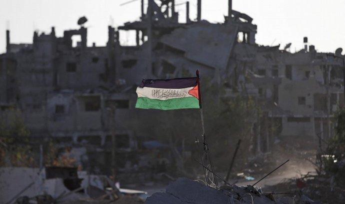 Palestinská vlajka v pásmu Gazy